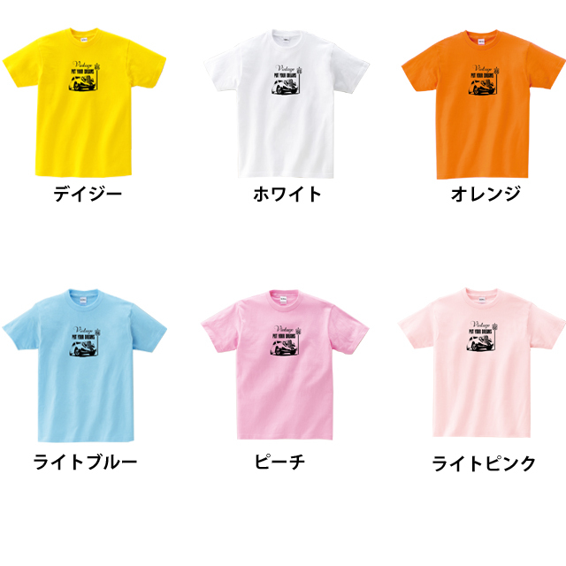 クラシックカープリントTシャツ