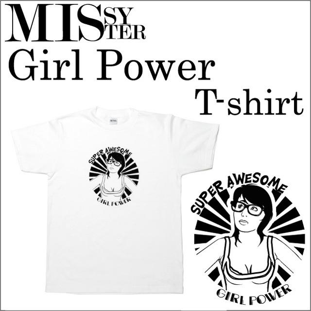 ガールパワープリントTシャツ エナー