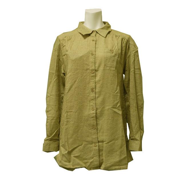 アウトレット カラーシャツ 長袖 無地 Yシャツ カッターシャツ レディース