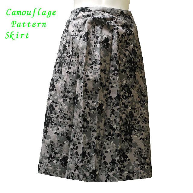 迷彩柄ロングスカート