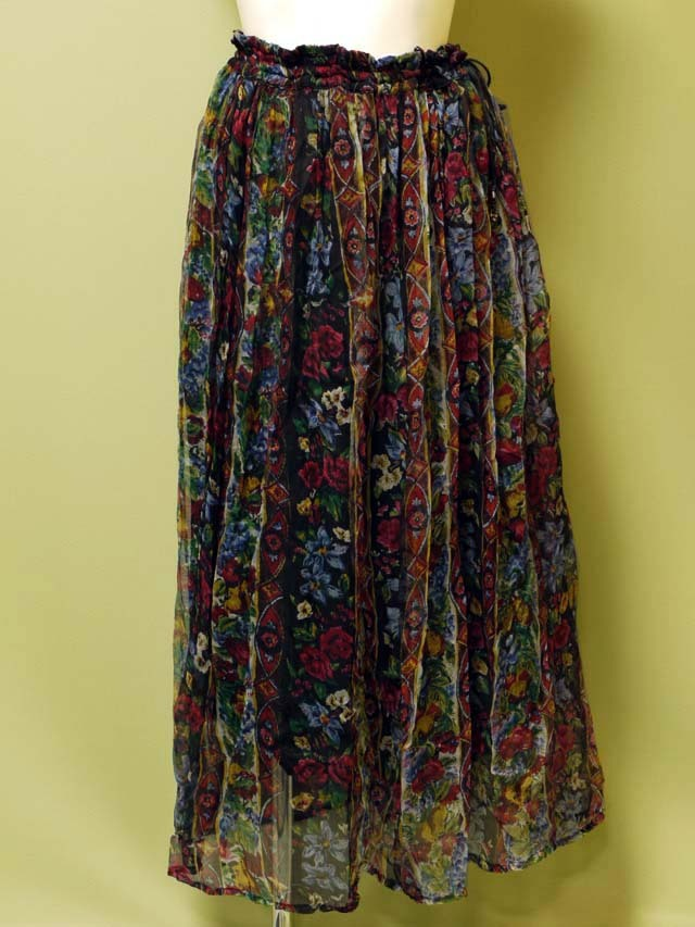 花柄スカート 古着