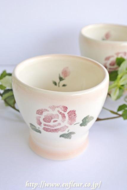 マニー ローズ陶器 ミニタンブラー ピンク