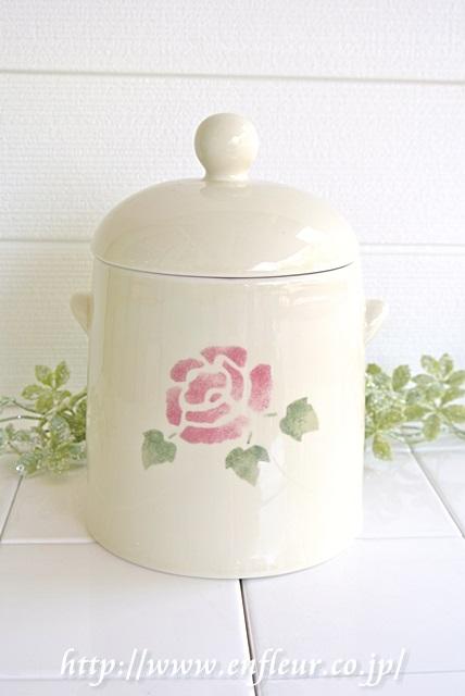 マニー ローズ陶器 サニタリーポット