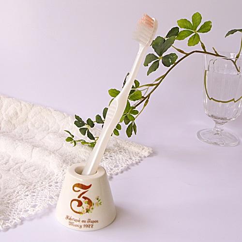 マニー ノンブル 陶器 ハブラシスタンド ピンク・3