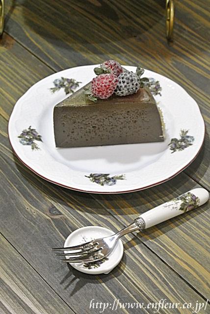 マニー ブルーローズ陶器 ケーキプレート