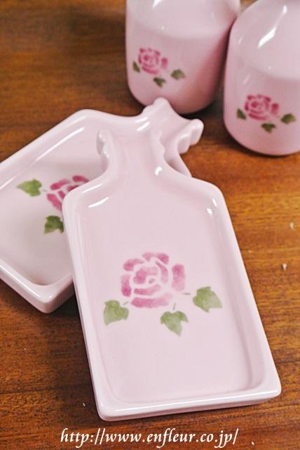 マニー ローズ陶器 ミニコンプラ小皿