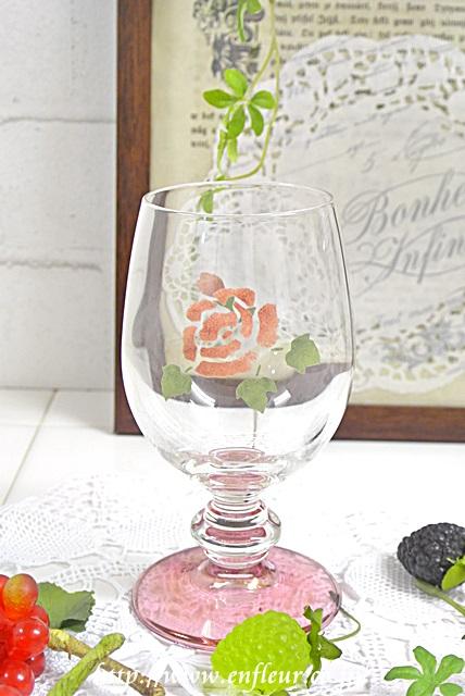 マニー ローズガラス ワイングラスS[