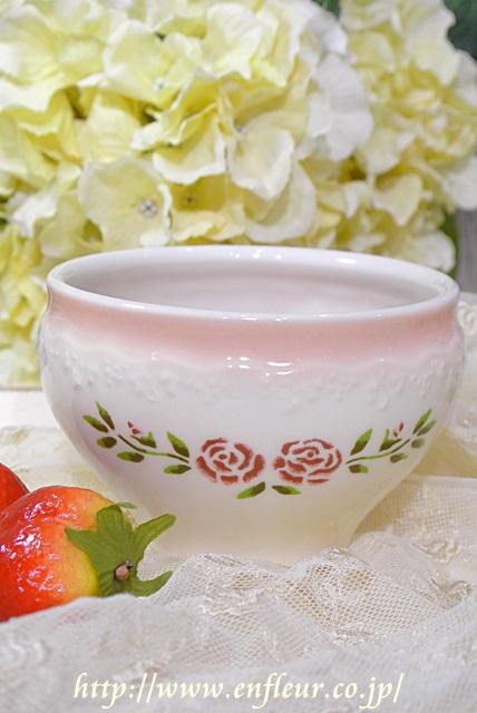 マニー ステンシルローズ 陶器 オーレカップ