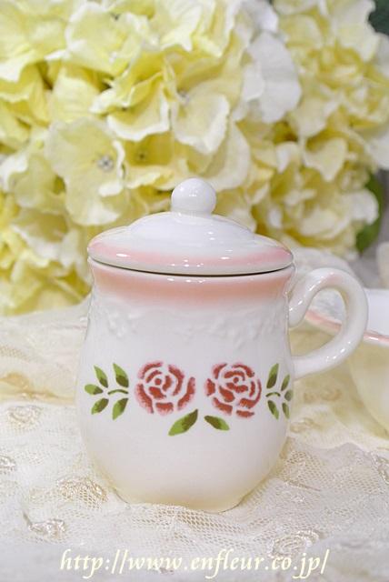 マニー ステンシルローズ 陶器 エスプレッソカップ