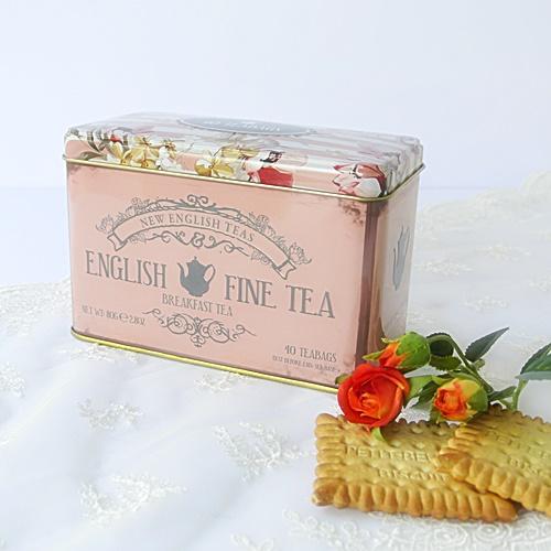 NEW ENGLISH TEAS フラワー缶 イングリッシュ ブレックファスト