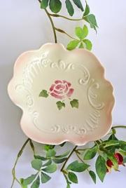 マニー ローズ陶器 ペタル ミニプレート