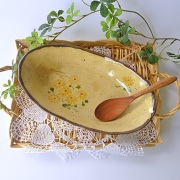 マニー クリザンテーム 陶器 オーバルプレート