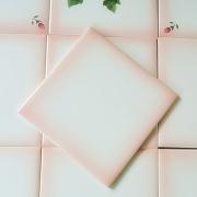 マニー ローズ陶器 オリジナルタイル ぼかしピンク