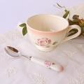 マニー ローズ陶器 陶器ハンドル ティースプーン