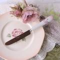 マニー ローズ陶器 陶器ハンドル ディナーナイフ