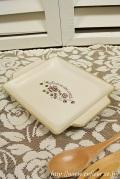 マニー 耐熱陶器グリルプレートS(セゾンドローズ)