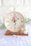 マニー ローズ陶器 置時計(ローズ)