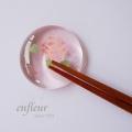 マニー ローズガラス 箸置き ピンク