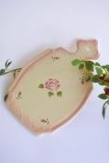 マニー ローズ陶器 ペタル チーズボード