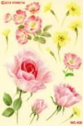 バラと黄色の小花