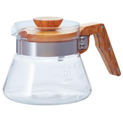 ハリオ コーヒーサーバー オリーブウッド<400/600>