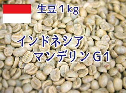【生豆】 インドネシア マンデリン G1 1kg