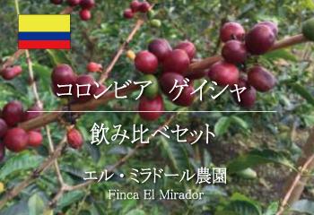 コロンビア ゲイシャ エル・ミラドール農園飲み比べセット/ コーヒー豆