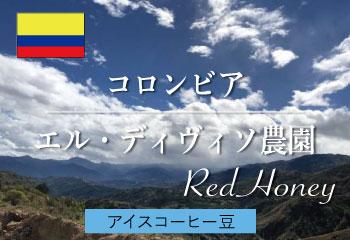 【アイスコーヒー】 コロンビア エル・ディヴィソ農園 レッドハニー (細挽き豆)