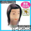 【送料無料】 理容師国家試験練習用 メンズカットウィッグ 人毛100% シェービングウィッグ シェービング、刈り上げ練習に