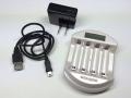 SQSAB100 単三/単四型ニッケル水素バッテリー用充電器