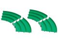 T95491 タミヤ ミニ四駆 ジャパンカップ ジュニアサーキット カーブ(緑)4枚セット
