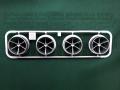 T8892 タミヤ アフターパーツ 大径ローハイトホイール 6本スポーク(シルバー)