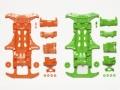 T94839 タミヤ VS蛍光カラーシャーシセット(オレンジ・グリーン)