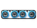 T94960 タミヤ ミニ四駆限定 ハードバレルタイヤ(ブルー)&カーボン強化大径ナローホイール