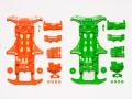 T95355 タミヤ VS蛍光カラーシャーシセット(オレンジ・グリーン)