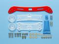 T95363 タミヤ フロントワイドスライドダンパー2(レッド)