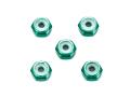 T95424 タミヤ 2mmアルミロックナット(グリーン5個)