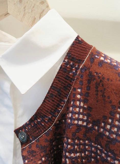 [KNIT WEAR] Flower lace pattern Cardigan 花のレース柄カーディガン CAW1862-01M