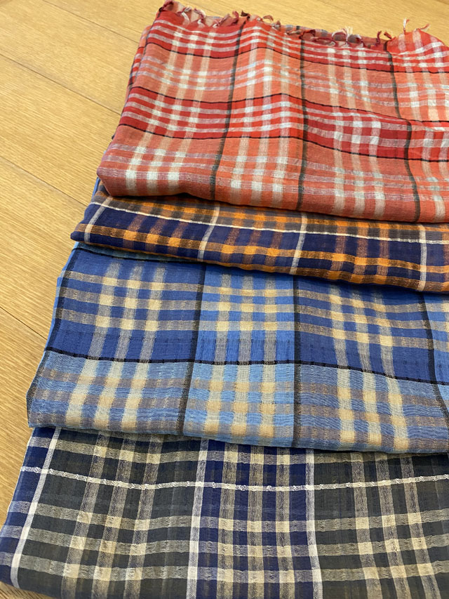 【CHECK】 Check Patterned Cloth 透け感のあるチェック柄 PS1544