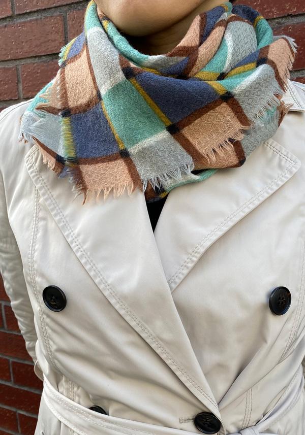 [CULTURE] NORDIC CHECKS 伝統衣装のチェック柄 *スクエア型75cm* SW2043
