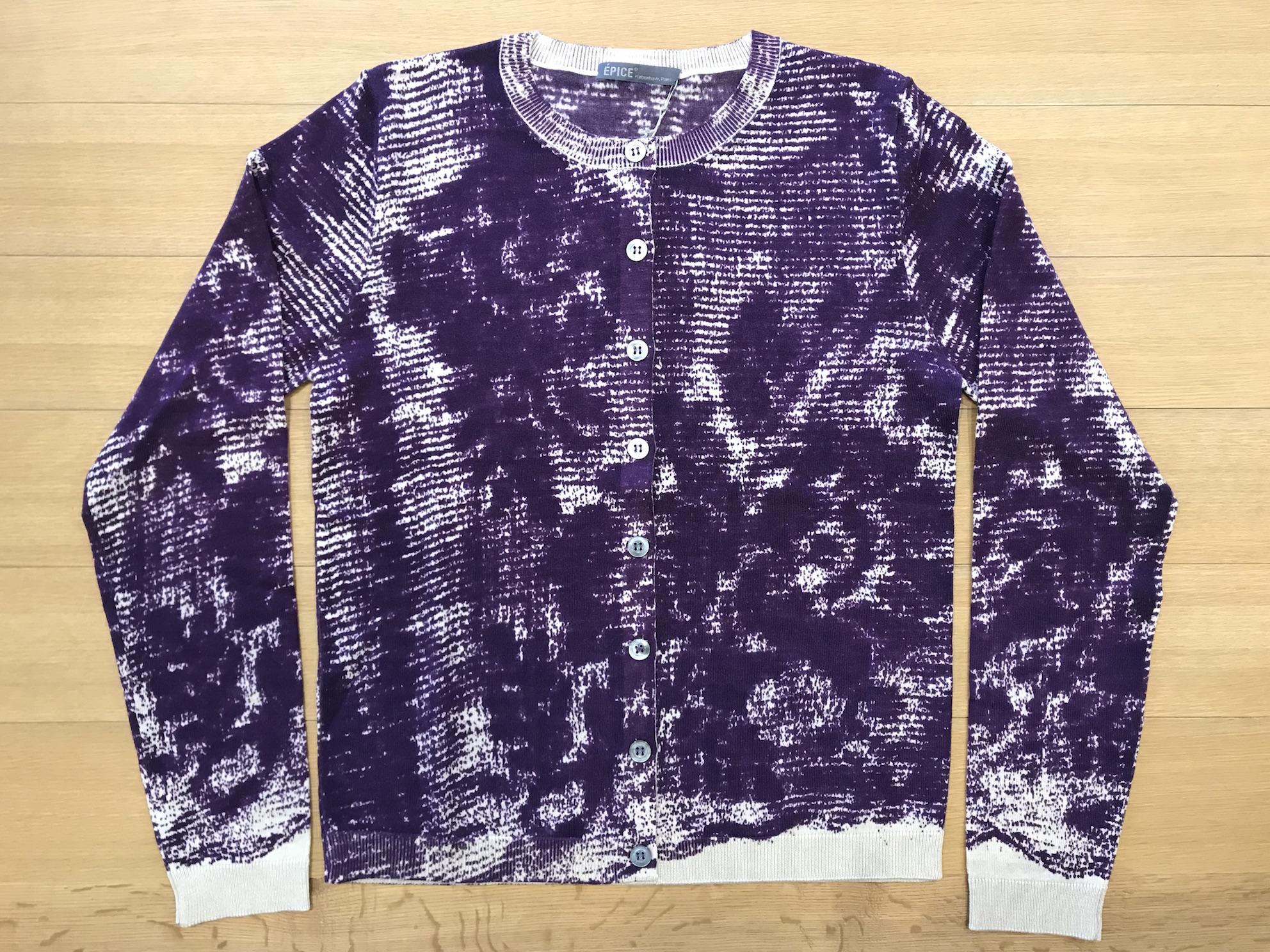 Abstract floral lace pattern アブストラクト花レース柄 カーディガン CA1360-01