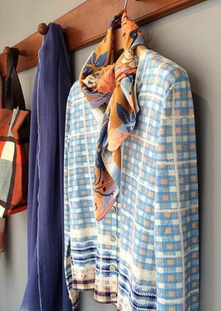 African Check Cardigan アフリカンチェック CAS1605-01
