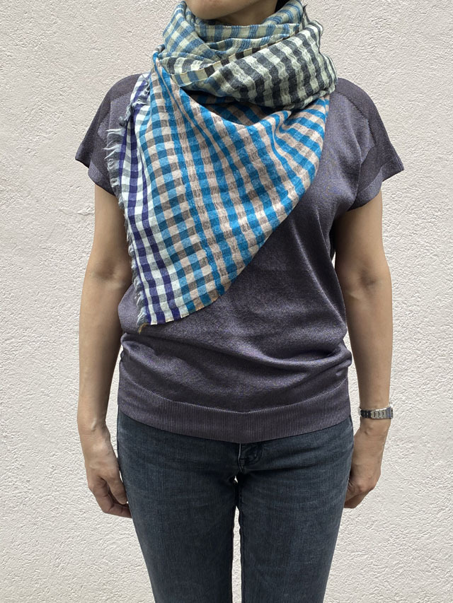 【CHECK】 Danish Check Patterned Cloth デンマークチェック柄 CHECK 4A