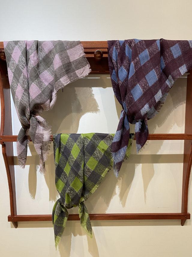 [CULTURE] JAMDANI & IKAT 伝統衣装の「格子の織り柄」 *スクエア型75cm* GW2053