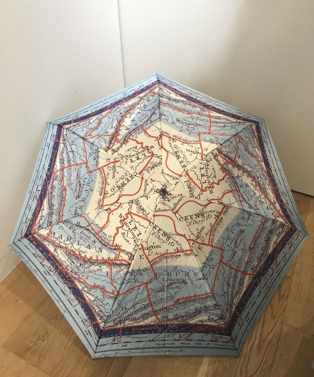 傘 折りたたみ傘・雨用 Route Map of Old England イギリスの昔の航路図 1EP17003-03