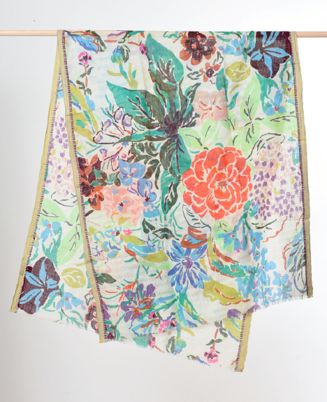 [FLORAL MOTIF] Flida Kahlo With Selvage PS1994