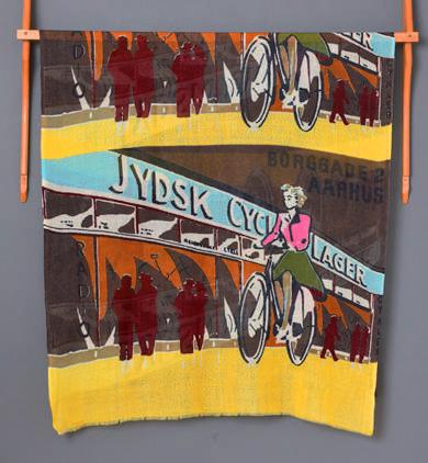 【TVドラマ着用】[ART&CULTURE]  Bicycle pattern of poster art ポスターアートバイスクル柄PW1840