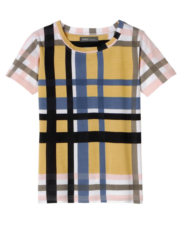 レディス T-Shirt CheckPattern TS1842-02