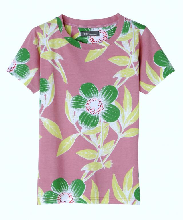 レディス T-Shirt FLORAL MOTIF TS1896-02