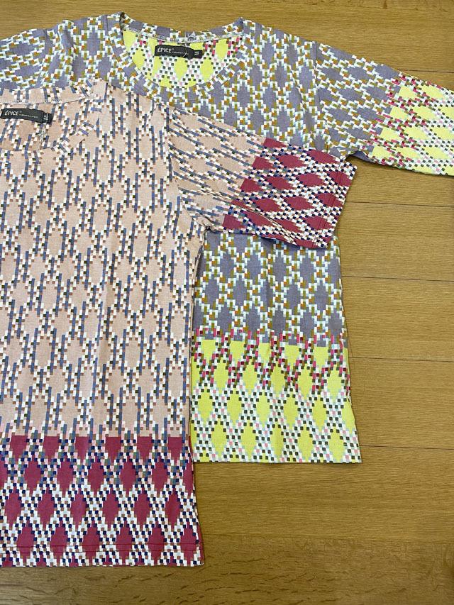 レディス T-Shirt [GRAPHIC ART] ギリシャのモザイク柄 TS2022-02